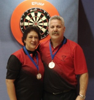New Zealand Darts Council 2010 Mixed Pairs Runners Up Joe & AnneMarie Temarama