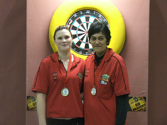 DB Draught Ladies Pairs Winners Jannette Jonathan & Megan Smith