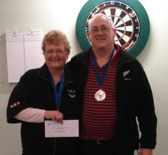 New Zealand Darts Concil Husband & Wife Runners Up Keith & Jenny Sheppard