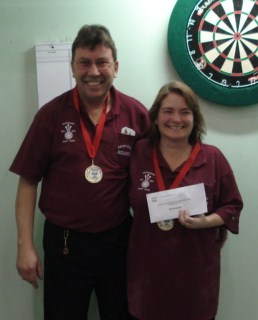New Zealand Darts Concil Husband & Wife Winners Laurie & Raewyn Turner