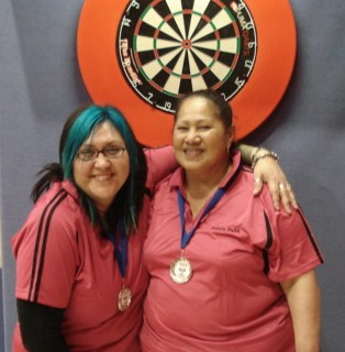 New Zealand Darts Council Ladies Pairs 2010 Runner Up Lorene Earnshaw & Bubs Sylva