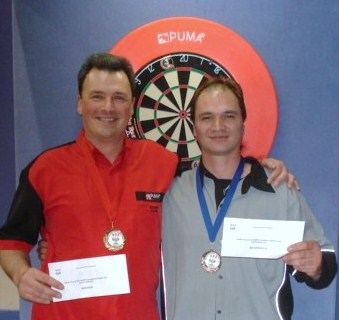 New Zealand Darts Council Mens Singles 2010 Winner Rob Szabo and Runnerup Koha Kokiri