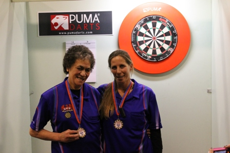 Ladies Pairs Winners T Williams & T Mears