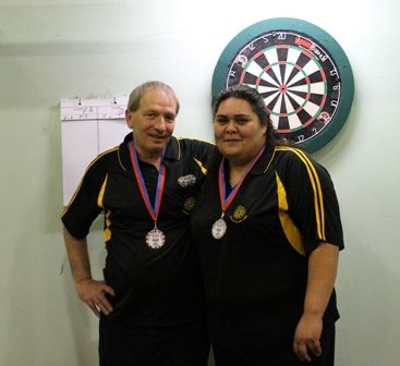 Mixed Pairs Runners Up Frank Coory & T Horua